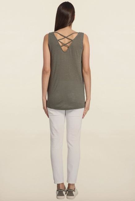 Vero Moda Grey Printed Long Top