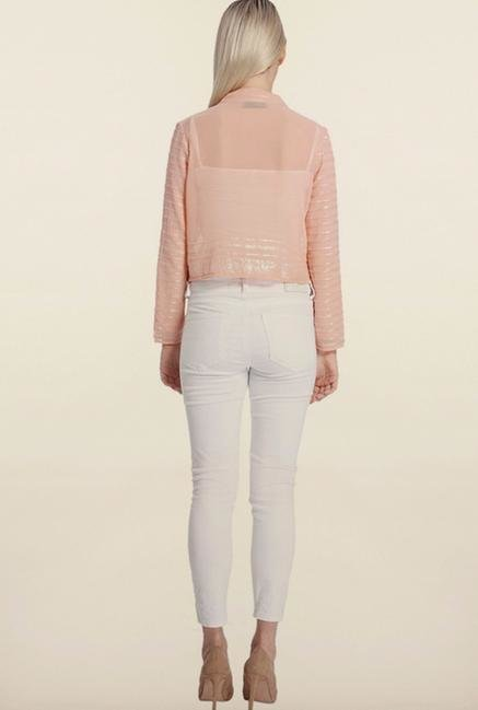 Vero Moda Peach Self Design Jacket