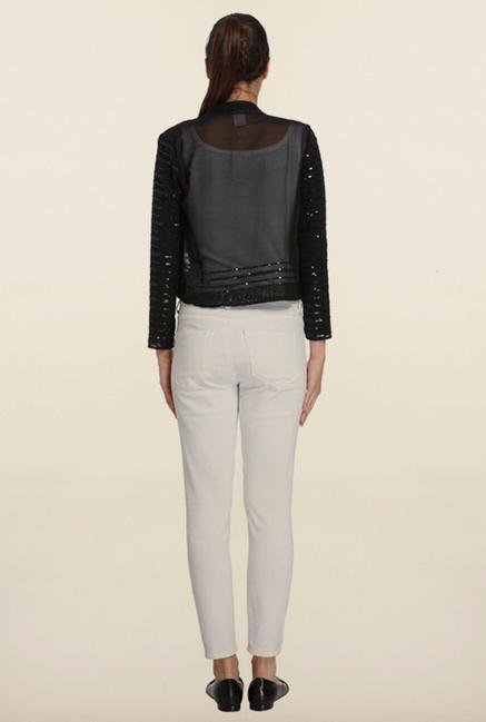 Vero Moda Black Self Design Jacket