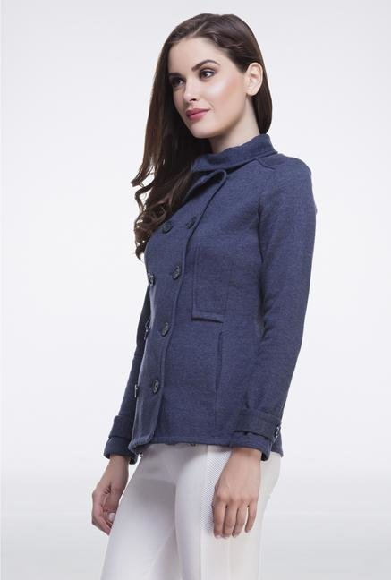 Femella Indigo Double-Breasted Jacket