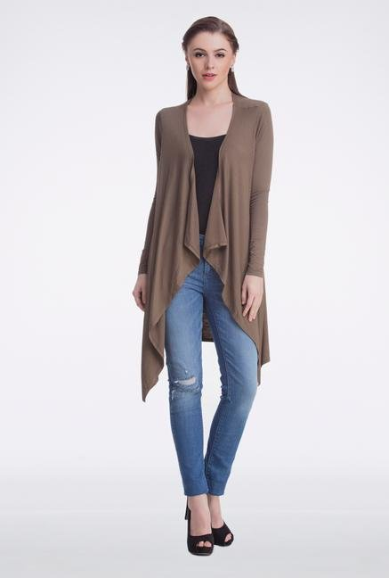 Femella Brown Jersey Cardigan