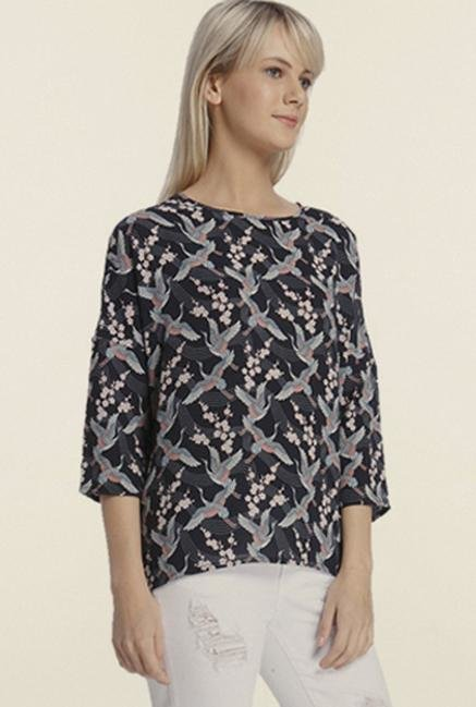 Vero Moda Black Printed Top