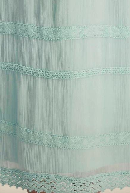 Only Light Blue Embroidered Maxi Dress
