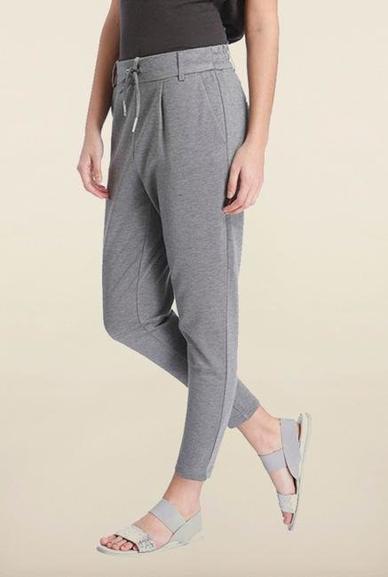 Only Grey Solid Track Pant