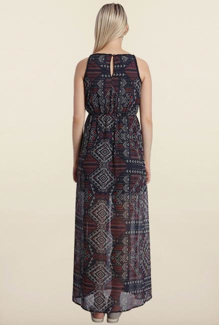 Vero Moda Multicolored Printed Maxi Dress