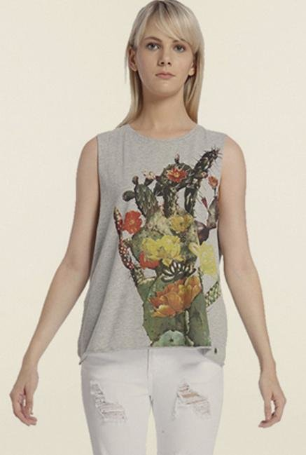 Vero Moda Light Grey Graphic Top