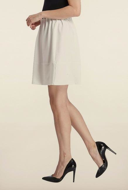Vero Moda Snow White Solid Mini Skirt