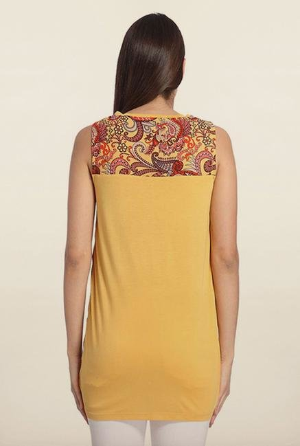 Vero Moda Yellow & Red Paisley Top