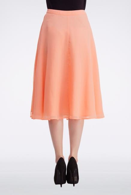 Femella Peach Semi Circular Skirt