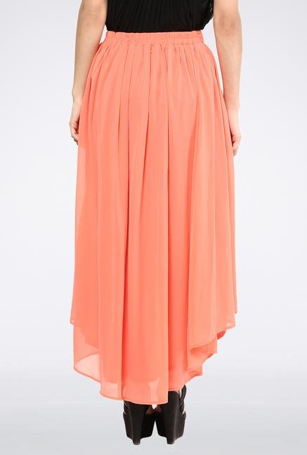 Femella Pink High Low Skirt