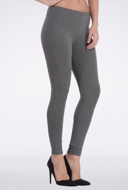 Femella Dark Grey Spandex Leggings