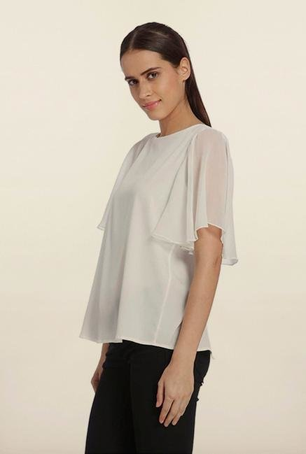 Vero Moda White Back Slit Top