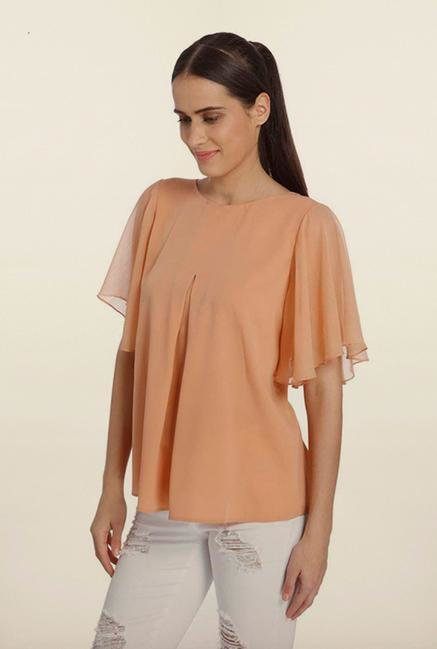 Vero Moda Peach Back Slit Top