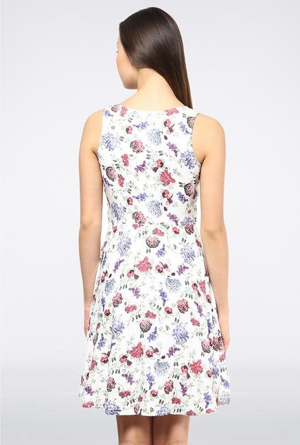 Femella White Printed Dress