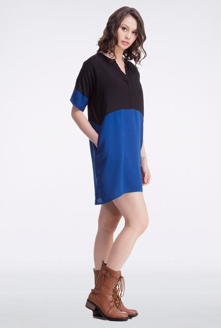 Femella Navy Blue Block Tunic