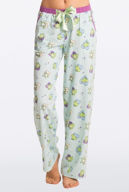 Pretty Secrets Mint Green Printed Pajama