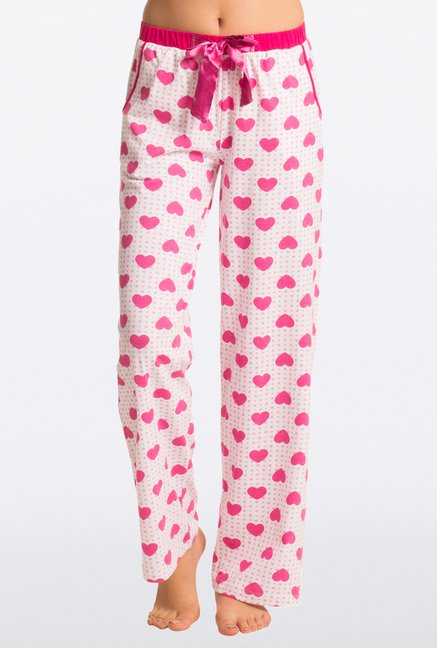 Pretty Secrets Pink Heart Print Pajama