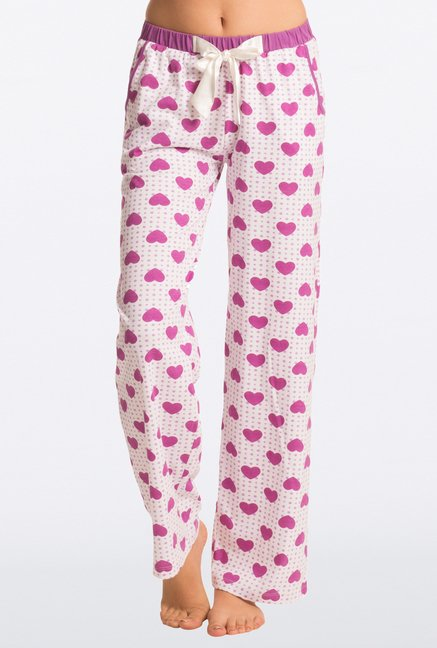 Pretty Secrets Purple Heart Print Pajama