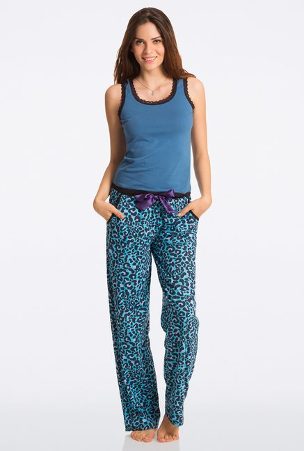 Pretty Secrets Blue Animal Print Pajama