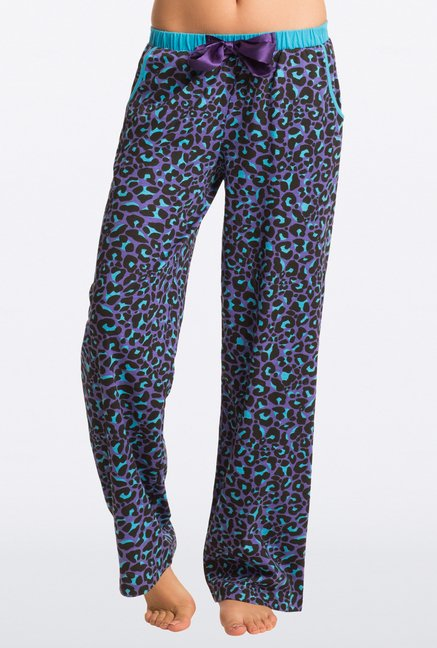 Pretty Secrets Purple & Blue Animal Print Pajama