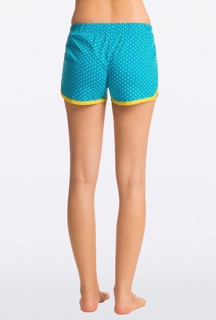 Pretty Secrets Blue Micro Polka Dot Shorts
