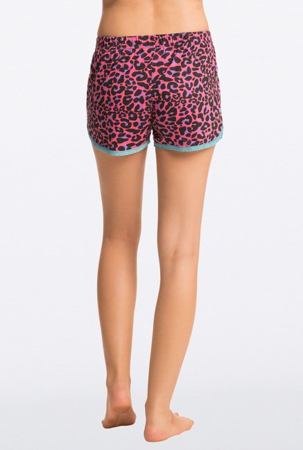 Pretty Secrets Pink Animal Print Shorts