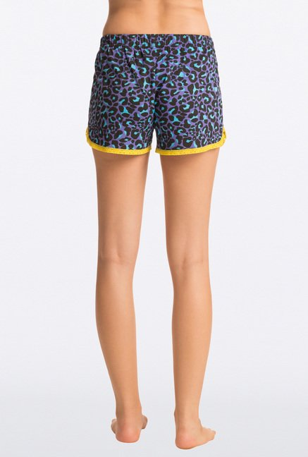 Pretty Secrets Purple Animal Print Shorts