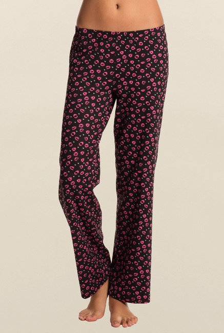 Pretty Secrets Black Printed Pajama