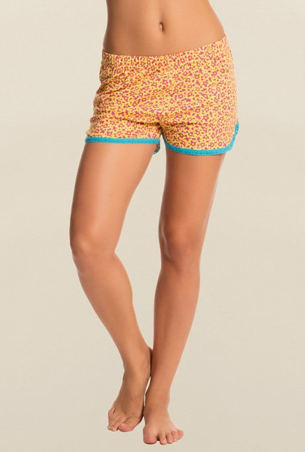 Pretty Secrets Yellow Floral Shorts