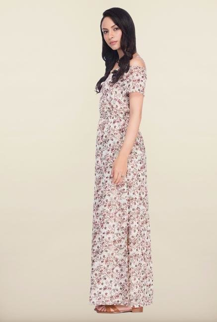 Femella Multicolor Floral Printed Maxi Dress