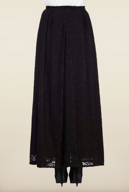 Femella Black Lace Maxi Skirt