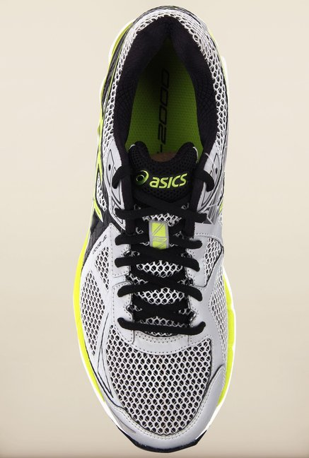 Asics Silver & Yellow Running Shoes