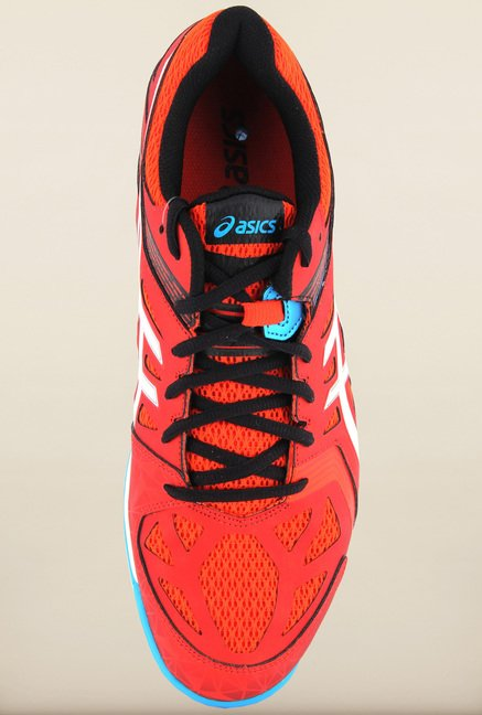Asics Cherry Tomato Indoor Court Sports Shoes