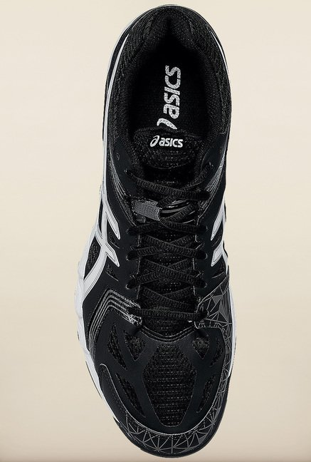 Asics Black Indoor Court Sports Shoes