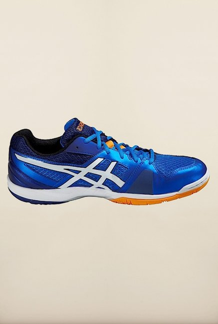 Asics Electric Blue Indoor Court Sports Shoes