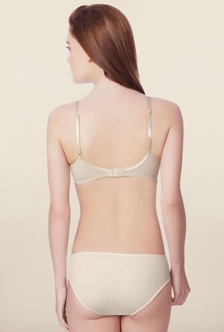 Amante Beige Padded Non-Wired Seamless Bra