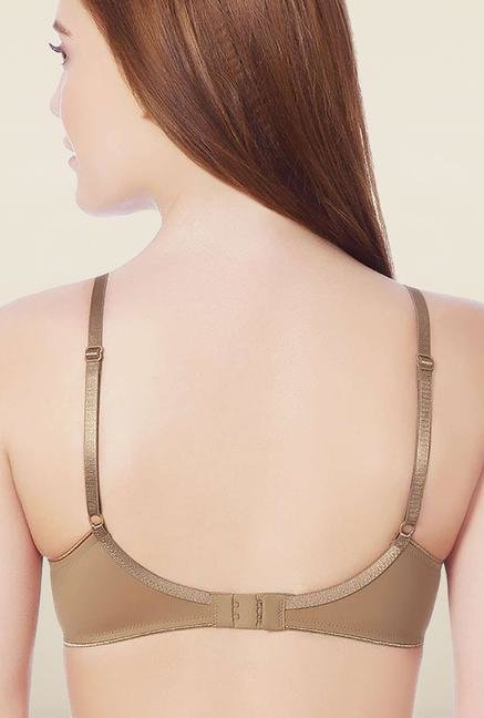 Amante Tan Padded Non-Wired Seamless Bra