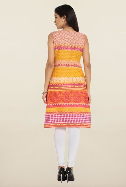 Soch Multicolor Printed Cotton Kurta