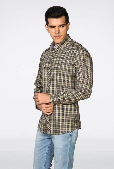 Provogue Multicolor Checked Casual Shirt