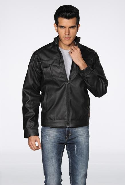 Provogue Black Biker Jacket