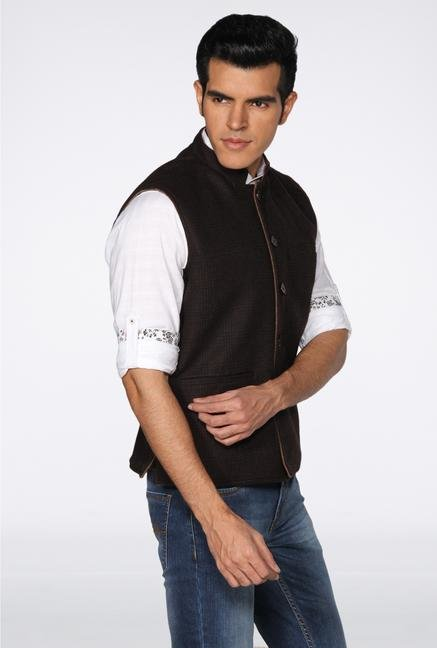 Provogue Brown Nehru Jacket