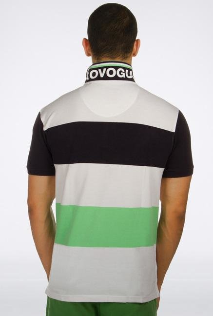 Provogue Multicolor Striped Polo T-Shirt