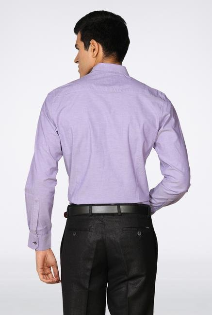 Provogue Purple Solid Casual Shirt