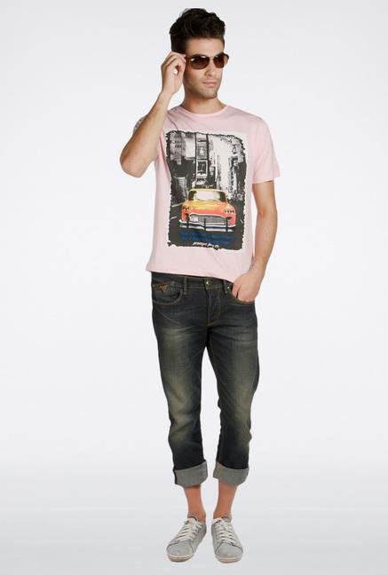 Provogue Pink Cotton T-Shirt