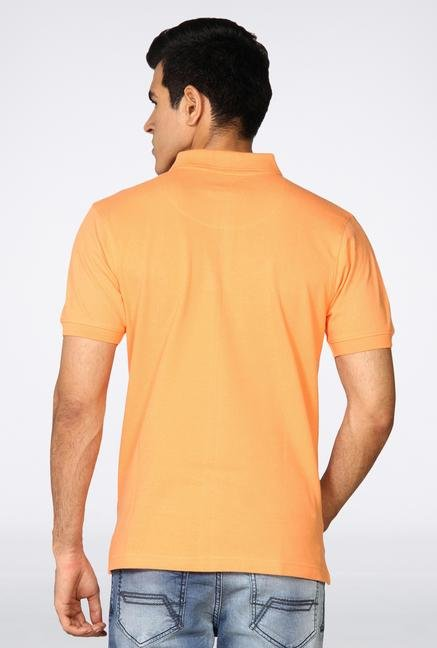 Provogue Orange Solid Polo T-Shirt