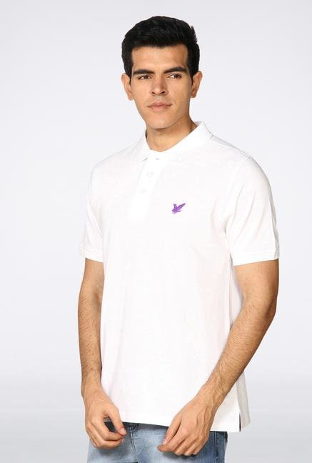 Provogue White Polo T-Shirt