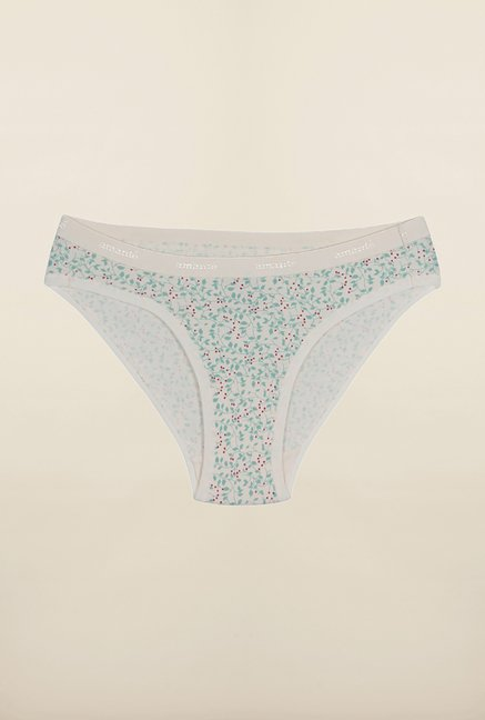 Amante Light Blue & White Printed Bikini Panties (Pack Of 3)