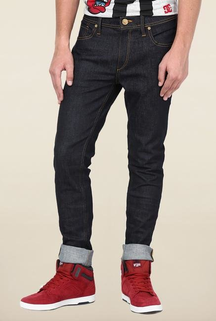 Jack & Jones Blue Rinse Washed Slim Fit Jeans