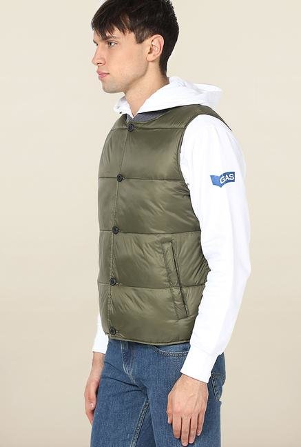 Jack & Jones Green Solid Jacket