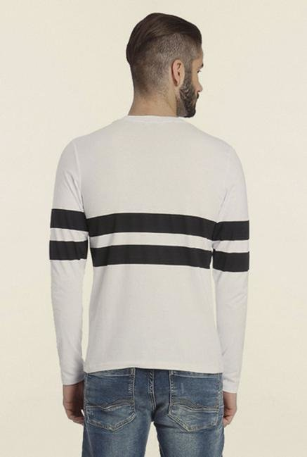 Jack & Jones White Solid T-Shirt